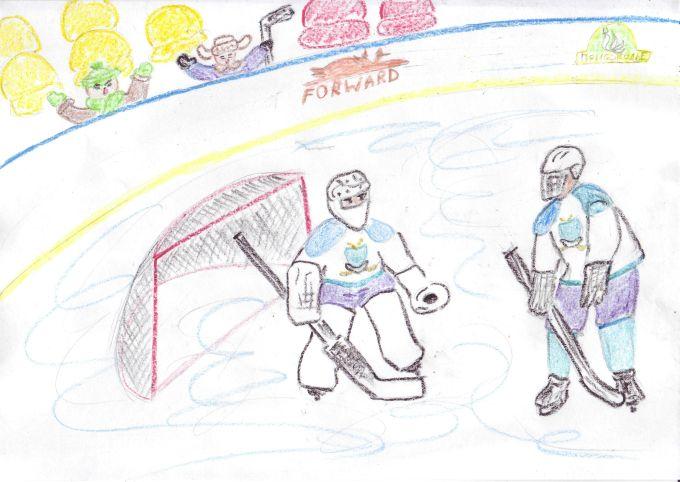Рисунок на тему хоккея